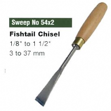 Fishtail Corner Chisels (Sweep No.54x2)